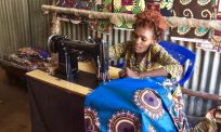 Congolese tailor with disability stitches new life in Kenya