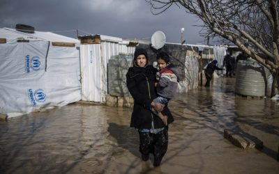 Storm flooding brings misery to Syrian refugees in Lebanon