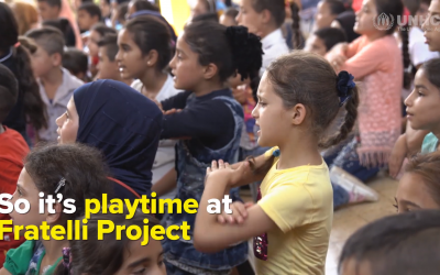 Derelict school gets new life as play centre for Syrian kids