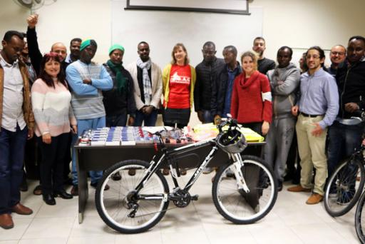 Let's get visible: Safer cycling for refugees