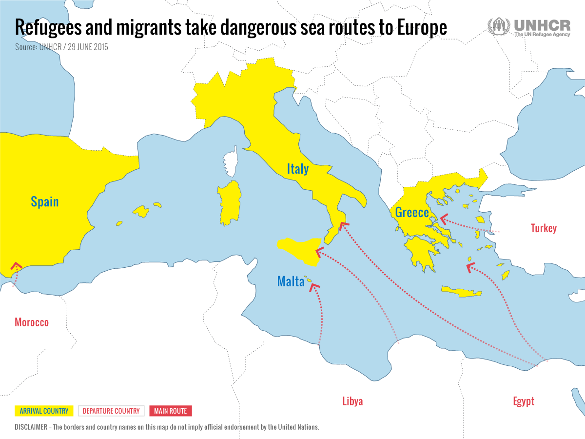 Mediterranean Crisis 2015 at six months: refugee and migrant numbers highest on record