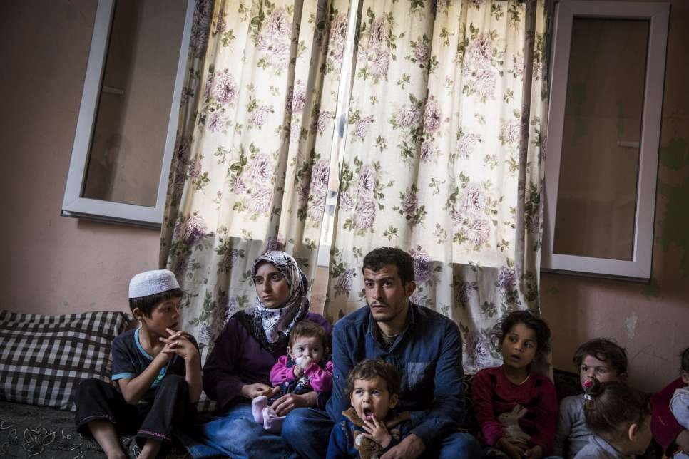 Firaz and his family fled Aleppo when their home was destroyed by shelling. © UNHCR/Andrew McConnell