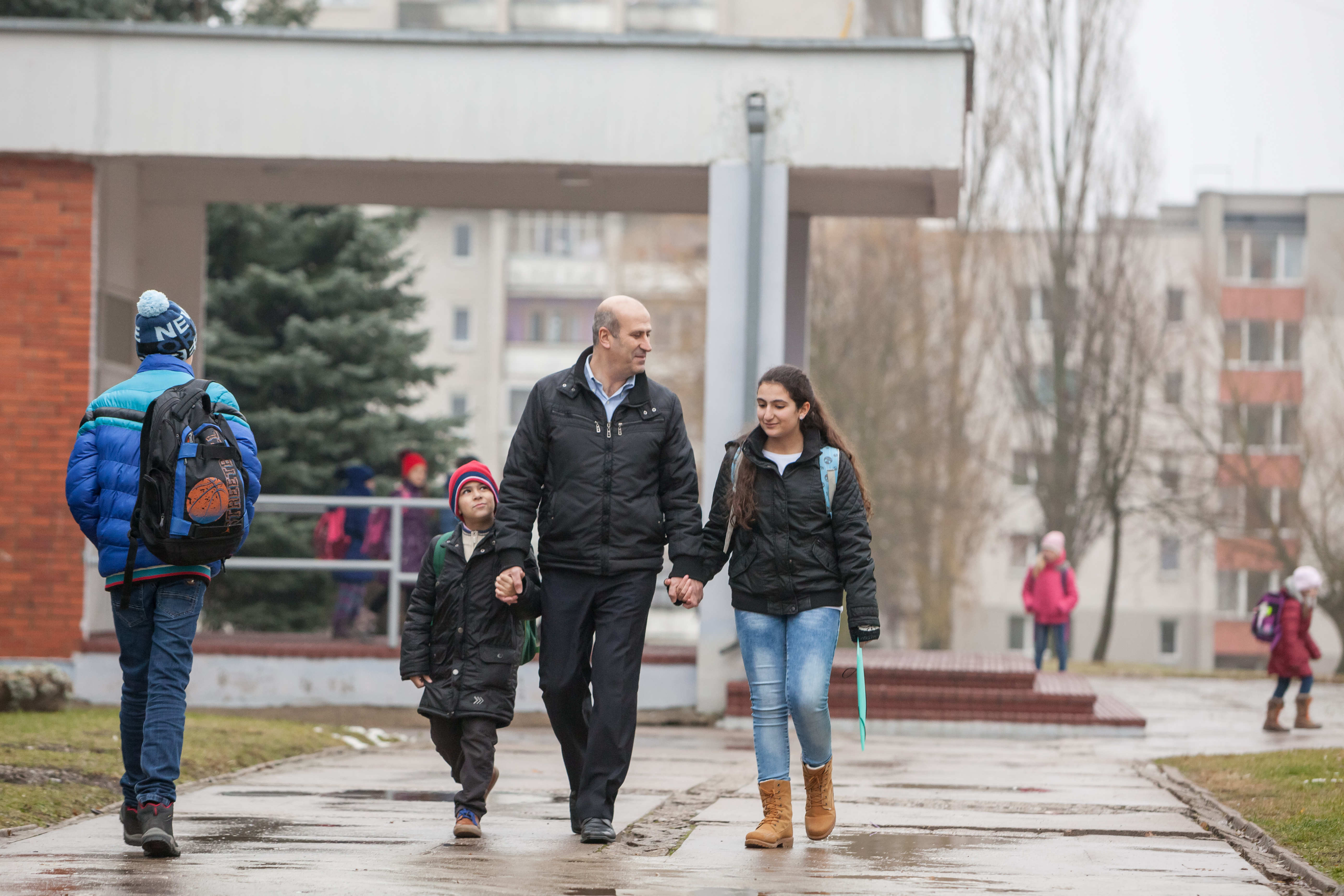 Pierre and his wife Aida now live in Jonava with their three children. Pierre works as a translator and often travels to other cities where his services are needed. He also picks up the younger kids Sam and Petra from school every day.