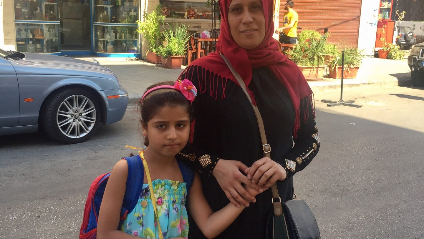 """The most important thing for me is for my children to get an education,"" says Zeina's mother. ©UNHCR/Nadine Alfa"