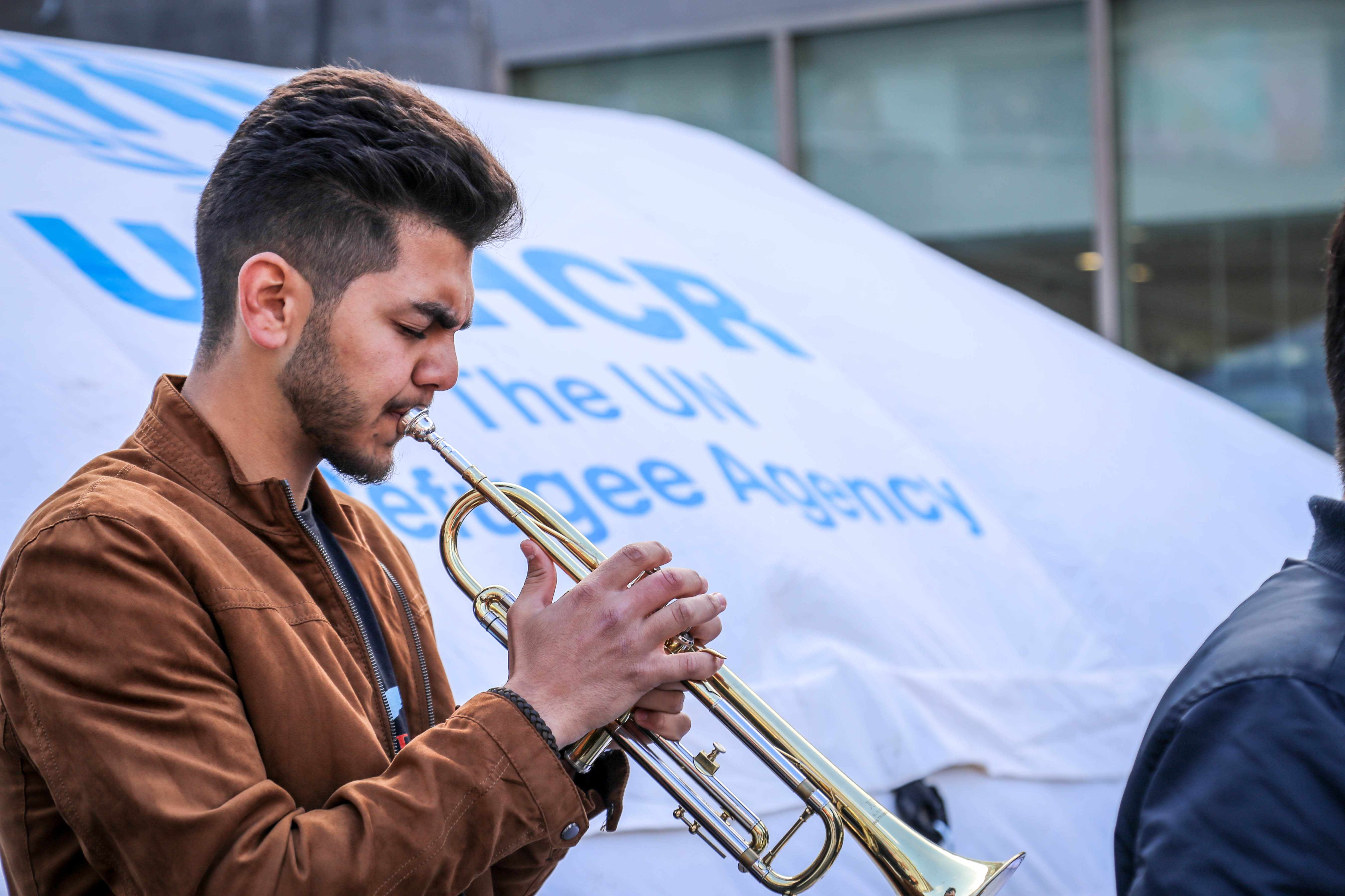 refugee children play music for integration northern europe