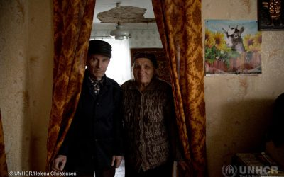 Estonia funding to UNHCR rebuilds shattered homes in Ukraine