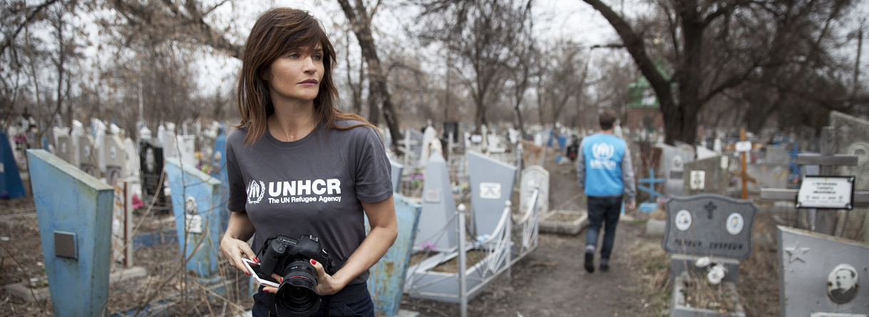Helena Christensen appointed Goodwill Ambassador for UNHCR - UNHCR Northern Europe