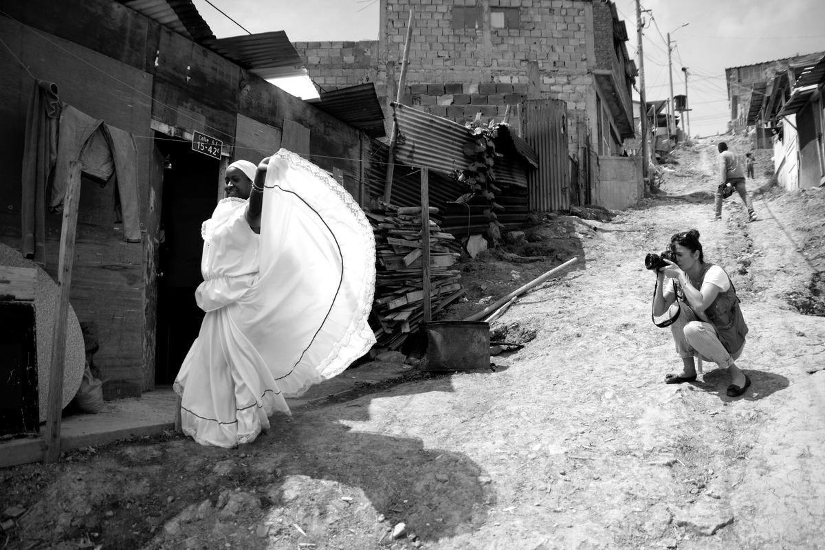 Colombia. Helena Christensen's visits internally displaced persons.