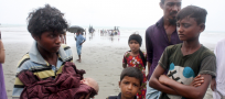 Rohingya take to the sea in search of safety in Bangladesh