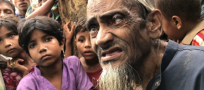 Elderly Rohingya rely on families to carry them to safety