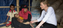 "UNHCR Ambassador Cate Blanchett warns of ""race against time"" to protect Rohingya refugees from monsoon rains"