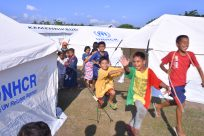 Tents bring Indonesia quake survivors out of the rain