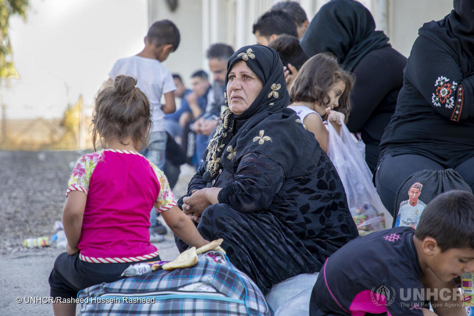 Iraq. UNHCR distributes aid to refugees fleeing north-east Syria