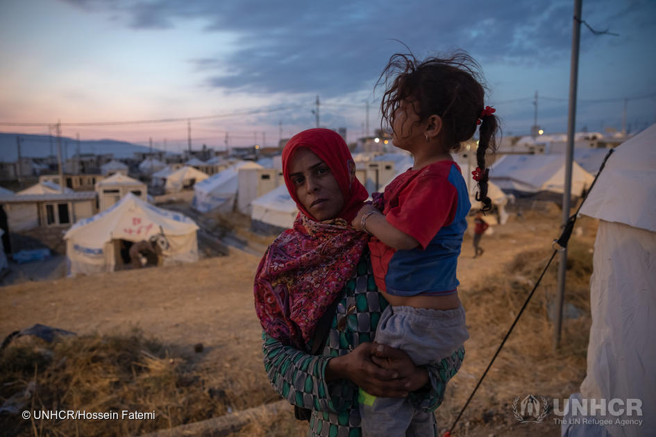 Iraq. UNHCR provides aid and shelter to refugees fleeing north-east Syria