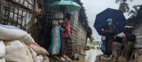 Emergency Response Teams and refugee volunteers respond to deadly floods in Bangladesh