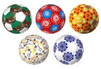 Five footballs designed by young artists will raise funds for refugee sports programmes