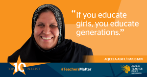 Afghan refugee teacher from Pakistan makes it to the Top 10 finalists for the Global Teacher Prize 2016