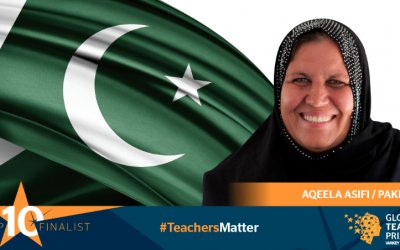 UNHCR pays tributes to Afghan refugee teacher who makes it to the Top 10 finalists for the Global Teacher Prize