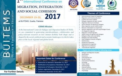 First ICRMS will be held in Quetta in December