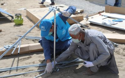 UNHCR delivers housing units, Rubb halls to support quarantine facilities in Balochistan