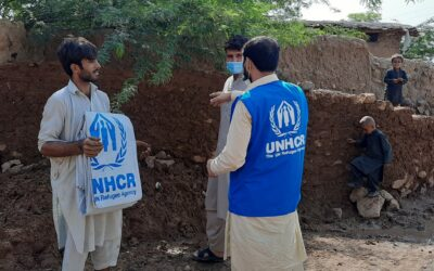 UNHCR steps up efforts to support flood-affected refugees and Pakistani communities