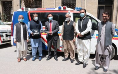 UNHCR donates five fully equipped ambulances to Balochistan Government