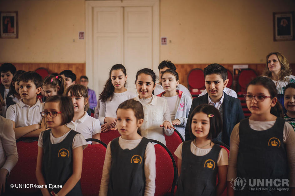 Romania. Refugee children find their voice in inclusive choirs