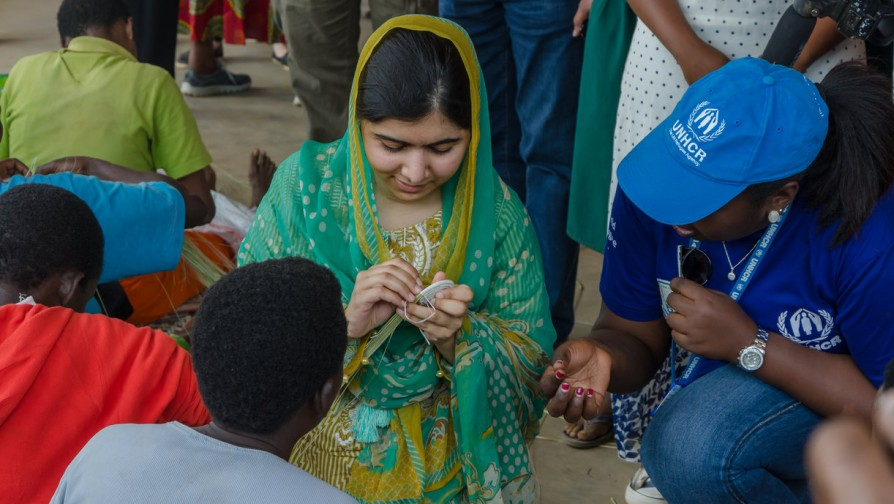 Malala joined handcraft women's cooperative [Photo/ UNHCR - Shaban Masengesho]