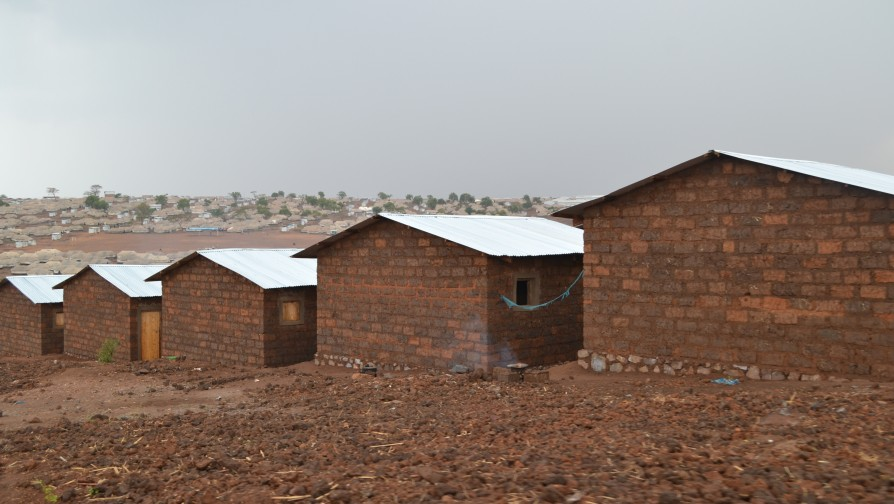 Mahama refugee camp: A village of new semi-permanent shelters built in mud brick with sheets [Photo/ UNHCR – Eugene Siboma