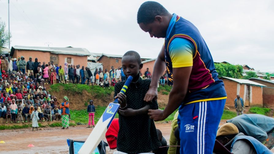 Guinness World Record holder and Captain of Rwanda's National Cricket Team brings the new sport of cricket to refugee camps in Rwanda