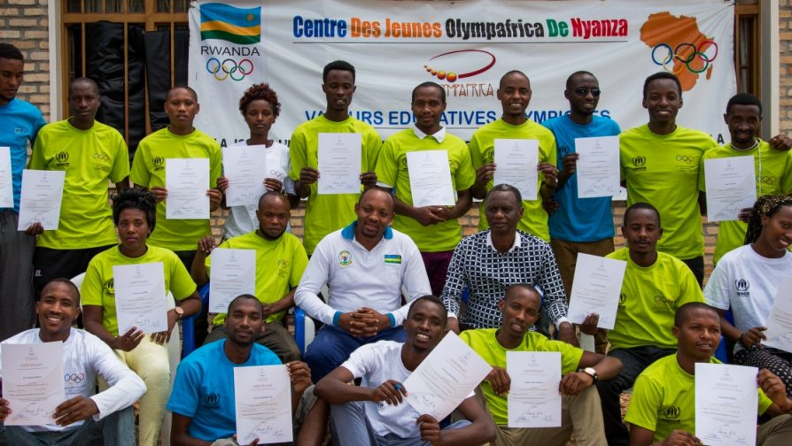 Rwanda: UNHCR and IOC supporting together a Sport for Protection project  for children and youth