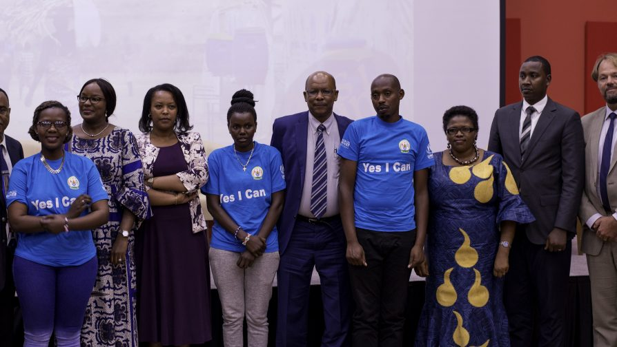 """MIDIMAR, MIGEPROF, UNHCR and UNWOMEN Launch Inter-Agency Gender Action Plan for Refugees in Rwanda at Kigali Convention Center  """"Yes, I can!"""""""