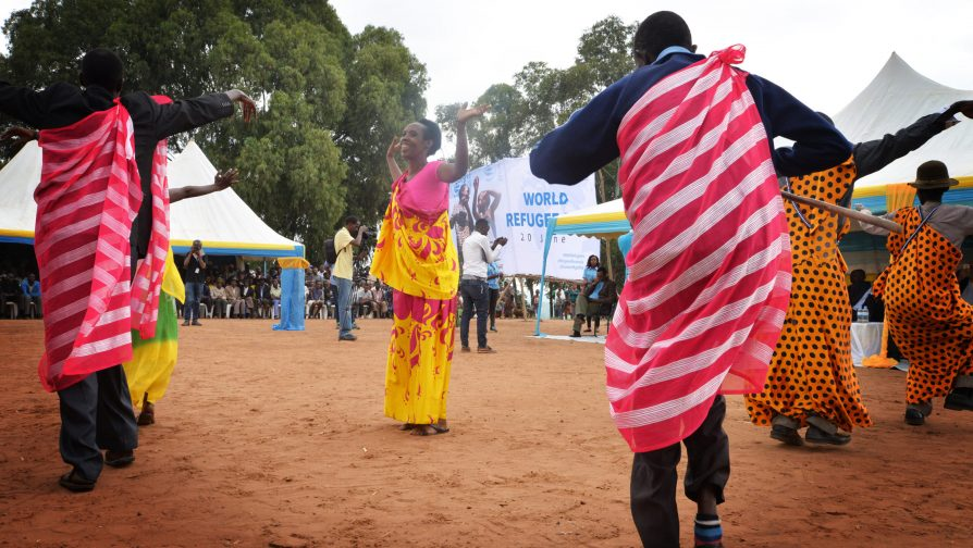 Traditional dance by Congolese refugees with disabilities during the World Refugee Day in Nyabiheke on 20 June. © UNHCR/Gabriel GELIN