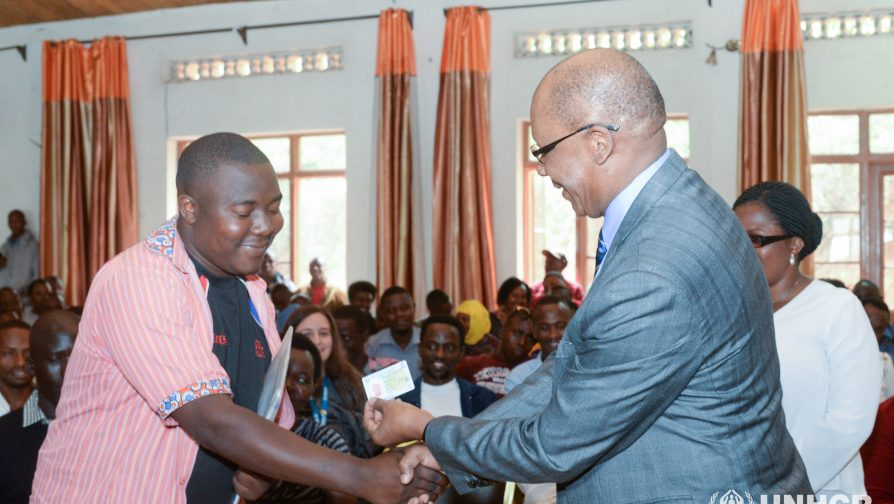 The Government of Rwanda and the UN Refugee Agency launch the issuance of national refugee identification cards in Kigali