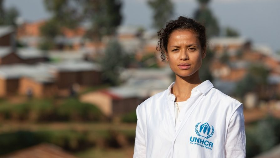 Actress Gugu Mbatha-Raw meets refugees in Rwanda with UNHCR, the UN Refugee Agency