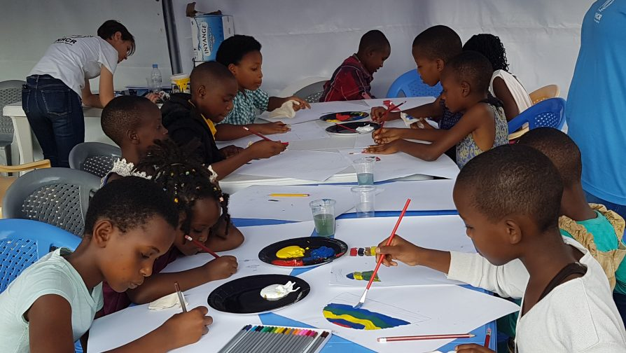 Kigali: Refugee children use brushes and colours to express their lives and difficulties during the Participatory Assessment