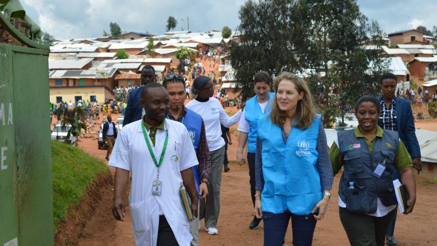 Her Royal Highness Princess Sarah Zeid visits Gihembe Refugee Camp