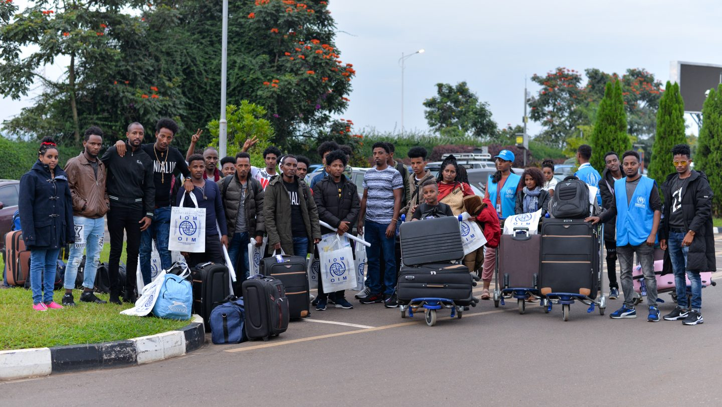 The first major group  of refugees evacuated from Libya have are