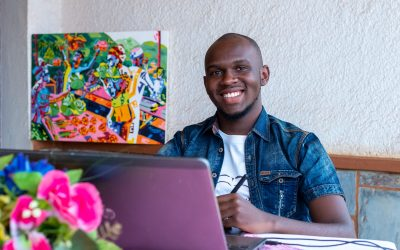 A young Rwandan artist wins the Youth with Refugees Art Contest