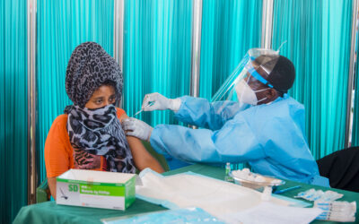 First refugees receive COVID-19 vaccinations in Rwanda