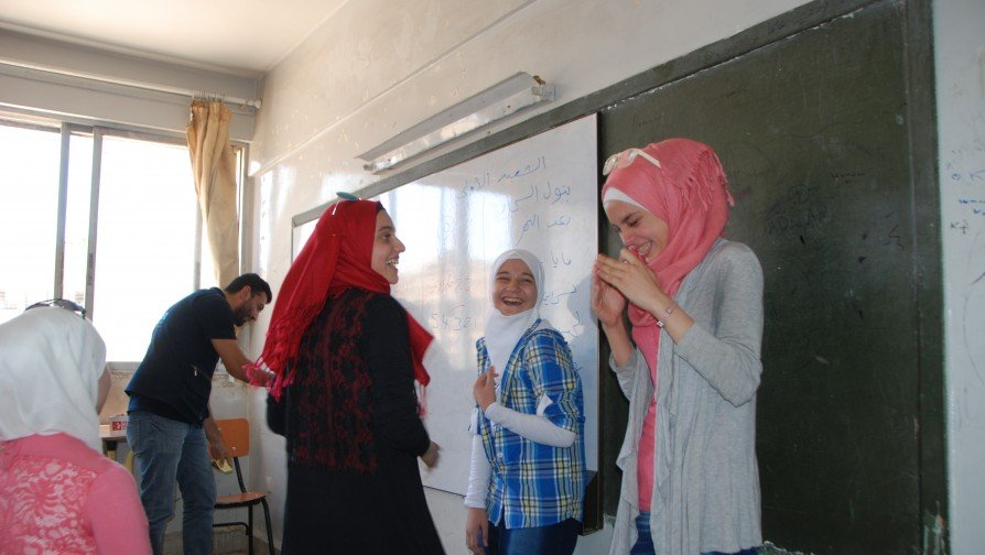 """""""I want to support all the children in my school and enable them to ask for their rights"""", said Nisreen while her eyes were wide open with surprise when she realized was elected by her classmate to represent all eighth-grade students in her school along with the other Children's Club members."""