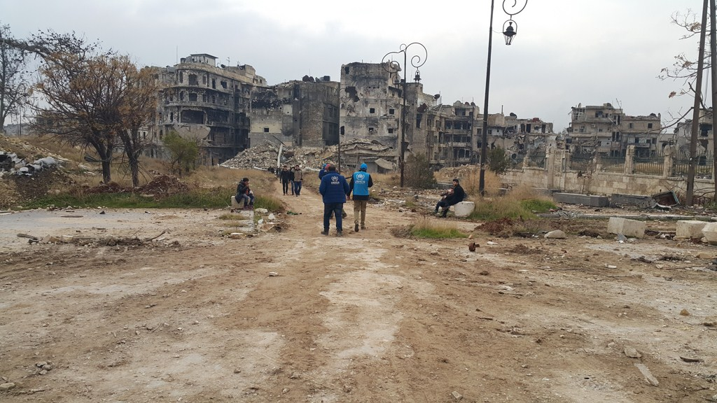 60061565d544e Syria. UNHCR first visit to the ancient parts of the war torn city of Aleppo