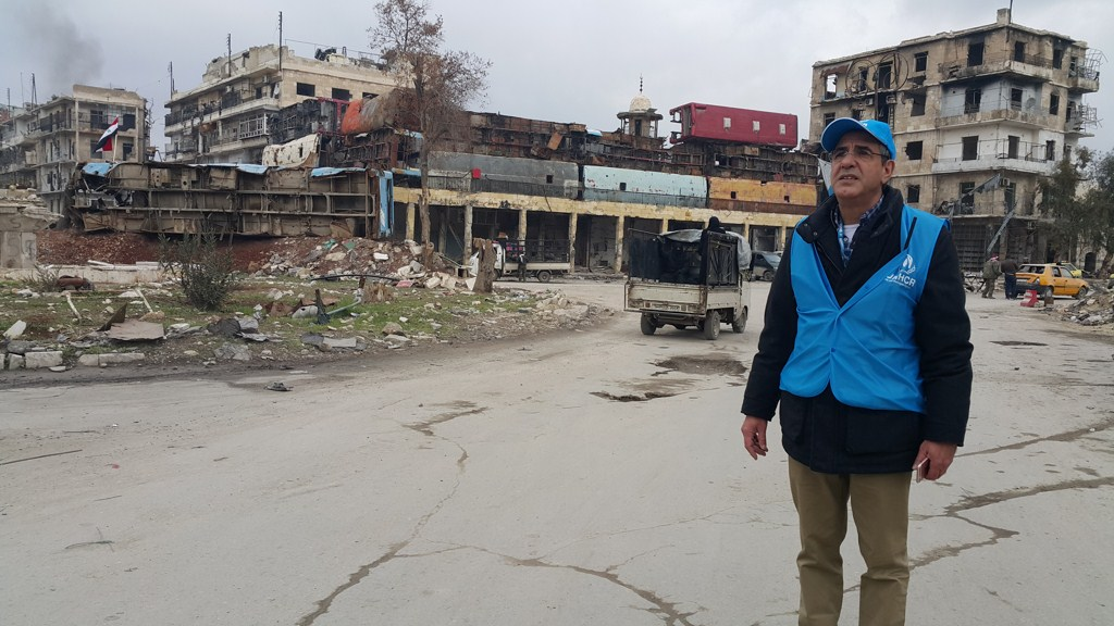 syria unhcr first visit to the ancient parts of the war torn city of aleppo