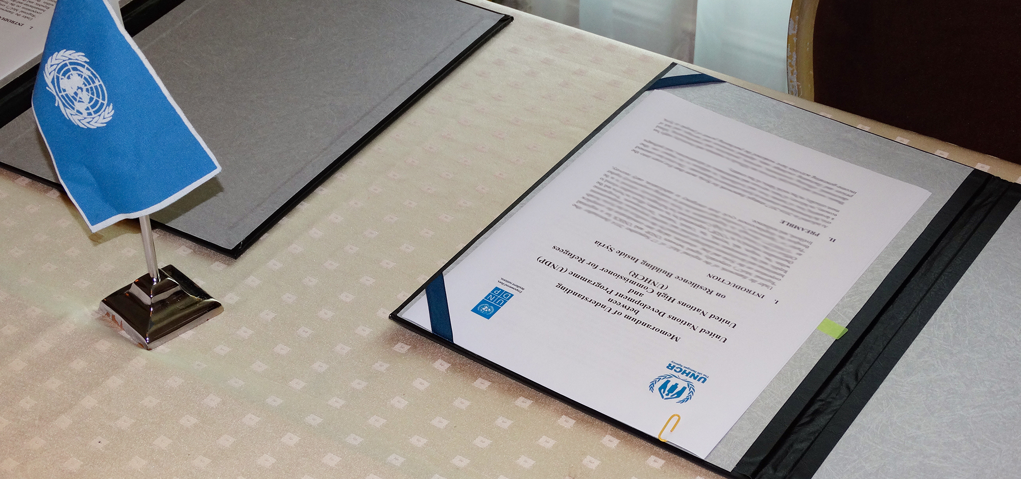 UNHCR and UNDP sign a new agreement for Resilience Building in Syria