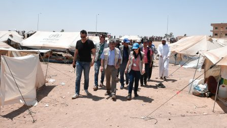 UNHCR exerting efforts to support displaced people living in camps northern Syria