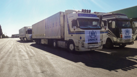 UNHCR's aid reaches Deir Ez-Zor city for the first time since three years