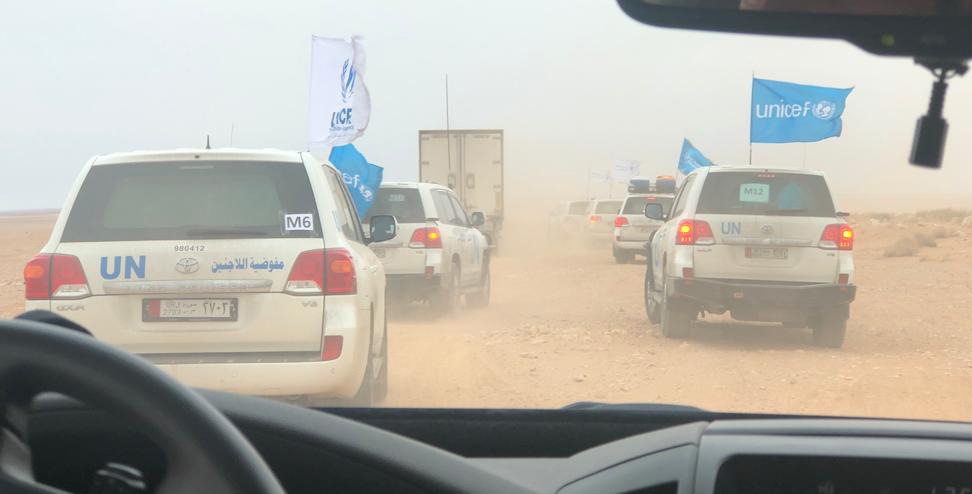 UN convoy supports vulnerable, displaced people in Rukban