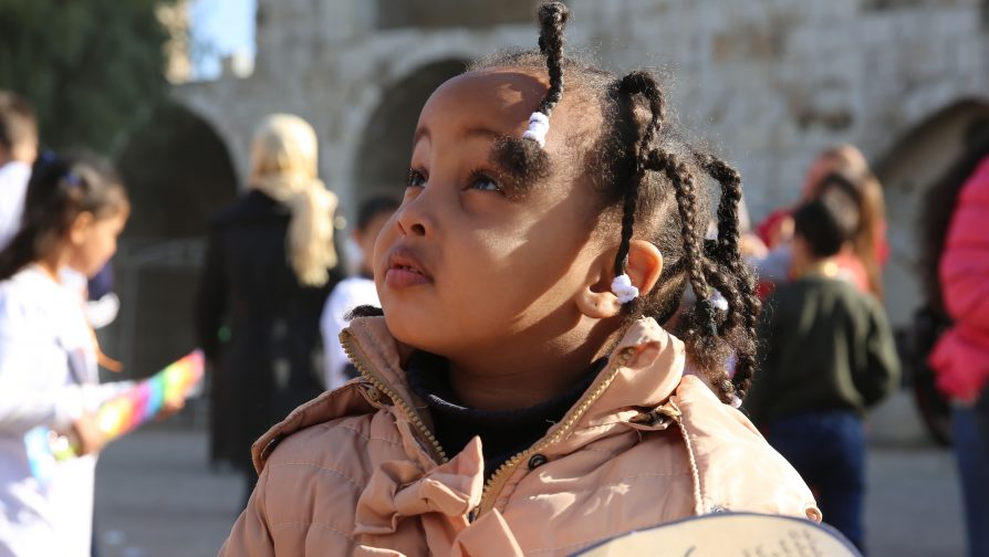 In Damascus, over 200 Syrian and refugee children commemorate World Children's Day