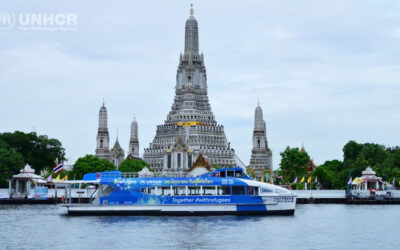 """UNHCR commemorates World Refugee Day with partners in Thailand with """"10th Refugee Film Festival"""", the first movie night by the iconic Chaophraya River"""