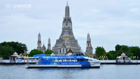 The World Refugee Day boat to inspire Thai people to come together in supporting one another in this difficult time of COVID-19 and bring hope for a new beginning of life for refugees. ©UNHCR